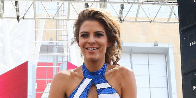 LOS ANGELES, CA - AUGUST 18:  TV Personality Maria Menounos performs E!'s Total Divas at Take-Over SummerSlam at Nokia Plaza