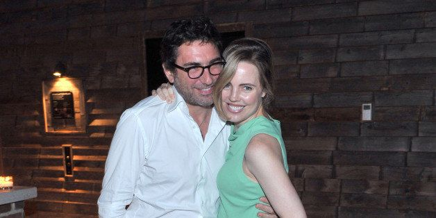 NEW YORK, NY - AUGUST 13:  Jean-David Blanc and Melissa George attend the Downtown Calvin Klein with The Cinema Society scree