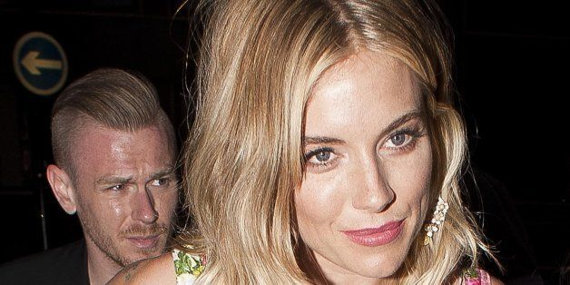 LONDON, UNITED KINGDOM - JULY 29: Sienna Miller sighting  at the BMW i3 party, Old Billingsgate on July 29, 2013 in London, E