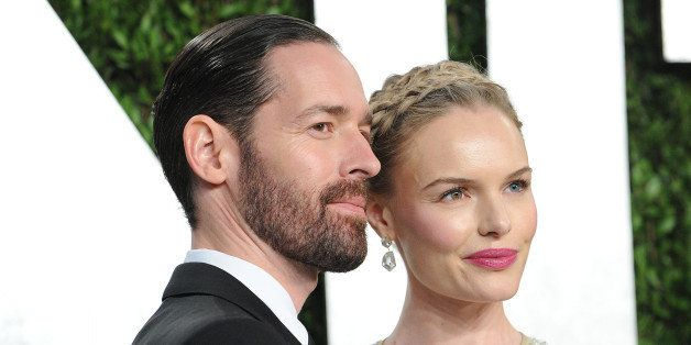 WEST HOLLYWOOD, CA - FEBRUARY 24:  Michael Polish and Kate Bosworth attend the 2013 Vanity Fair Oscar party at Sunset Tower o