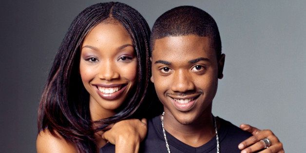 386837 05: Actress Brandy (left) stars as Moesha Mitchell, and her real-life brother Ray J, stars as Dorian in the United Par