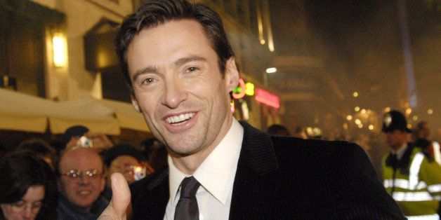 Hugh Jackman at the Odeon West End in London, United Kingdom. (Photo by Simon Leibowitz/WireImage)