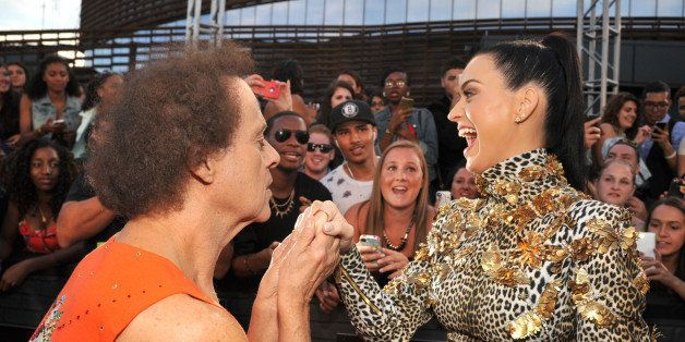 NEW YORK, NY - AUGUST 25:  Richard Simmons and Katy Perry attend the 2013 MTV Video Music Awards at the Barclays Center on Au