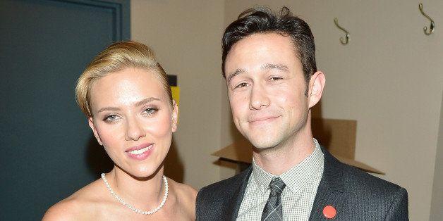 TORONTO, ON - SEPTEMBER 10:  Actress Scarlett Johansson and actor/filmmaker Joseph Gordon-Levitt arrive at the 'Don Jon' Prem