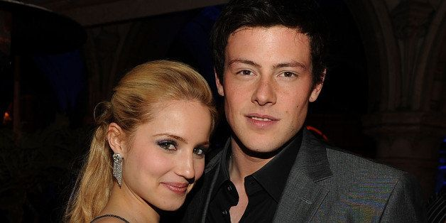 LOS ANGELES, CA - APRIL 12:  Actress Dianna Agron (L) and actor Cory Monteith attend Fox's 'Glee' spring premiere soiree held