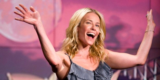 SYDNEY, AUSTRALIA - MARCH 7: In this handout image provided by Foxtel, Chelsea Handler waves to the audience on her late nigh