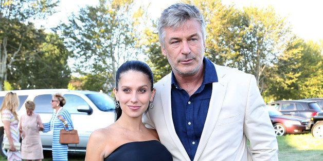 EAST HAMPTON, NY - AUGUST 10:  Hilaria and Alec Baldwin attend East Hampton Library's Authors Night 2013 at Gardiner's Farm o