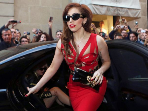 """I just think everybody needs to lighten up and leave her alone,"" Gaga says at about the 8-minute, 30-second mark. ""Because i"