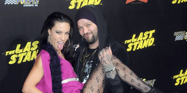 HOLLYWOOD, CA - JANUARY 14:  Tv personality Bam Margera and Nicole Boyd arrive for The Los Angeles Premiere of 'The Last Stan