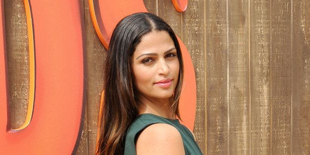 WESTWOOD, CA - OCTOBER 13:  Model Camila Alves McConaughey arrives at the Los Angeles premiere of 'Free Birds' at Westwood Vi