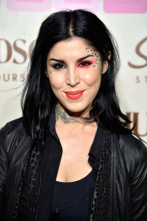 "The tattoo artist <a href=""http://www.celebuzz.com/2013-07-07/kat-von-d-celebrates-six-years-of-sobriety-and-we-say-congratul"