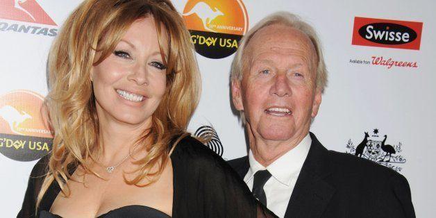 LOS ANGELES, CA - JANUARY 12: Linda Kozlowski and Paul Hogan attend the 2013 G'Day USA Black Tie Gala at JW Marriott Los Ange