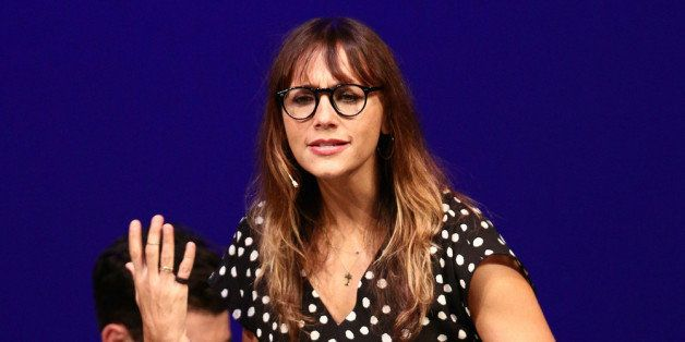 SANTA MONICA, CA - OCTOBER 12:  Actress Rashida Jones performs onstage at The Young Storytellers Foundation's Annual 'Biggest