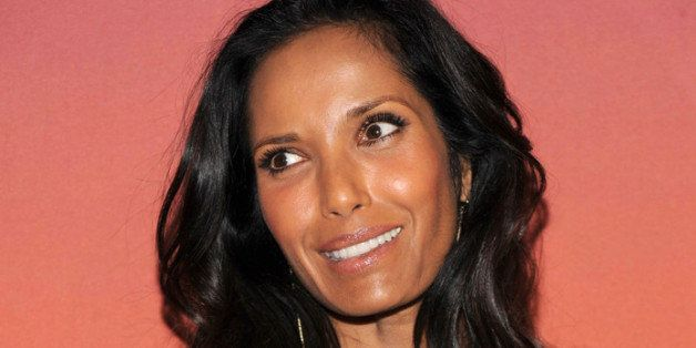 NEW YORK, NY - OCTOBER 23:  Actress Padma Lakshmi arrives for the Whitney Museum of American Art Gala & Studio Party 2013 Sup