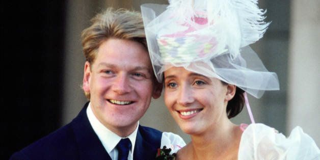 LONDON, UNITED KINGDOM - AUGUST 20:  The wedding of actors Kenneth Branagh and Emma Thompson on August 20, 1989 in London, En