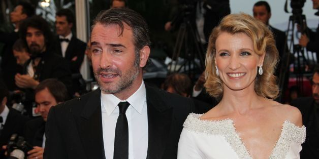 CANNES, FRANCE - MAY 27: Jean Dujardin and Alexandra Lamy attend the Closing Ceremony and 'Therese Desqueyroux' premiere duri