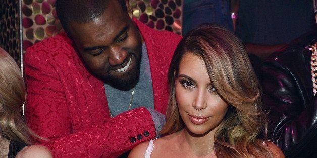 LAS VEGAS, NV - OCTOBER 25:  (EXCLUSIVE COVERAGE) Kanye West and Kim Kardashian celebrate Kim Kardashian's 33rd birthday at T