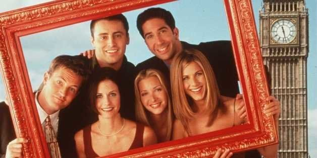'Friends' in London. Clockwise from top left: Matt LeBlanc, David Schwimmer, Jennifer Aniston, Lisa Kudrow, Courteney Cox and