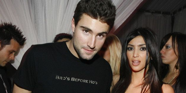 Brody Jenner and Kim Kardashian during T-Mobile Sidekick 3 Dwyane Wade Edition Launch Party - Inside at The Palms in Las Vegas, Nevada, United States. (Photo by Chris Polk/FilmMagic for Bragman Nyman Cafarelli)