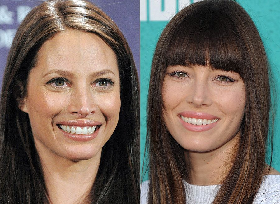 Former supermodel Christy Turlington and US actress (and Mrs Justin Timberlake), Jessica Biel