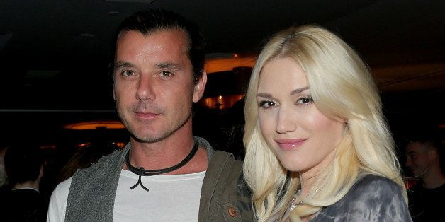 WEST HOLLYWOOD, CA - NOVEMBER 30:  Musicians Gavin Rossdale (L) and  Gwen Stefani attend PANDORA Jewelry and Moto X present '