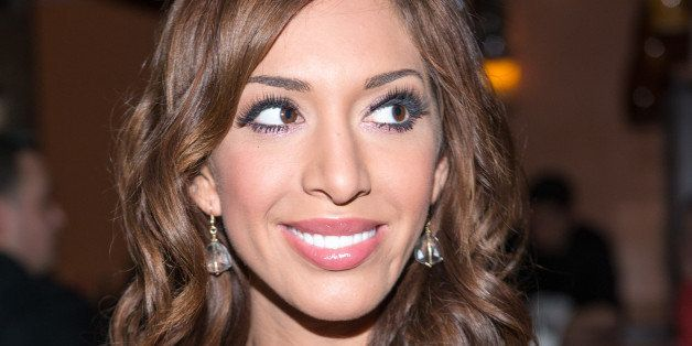 HICKSVILLE, NY - JANUARY 18:  Television personality Farrah Abraham visits Mio Posto Italian Restaurant on January 18, 2014 i