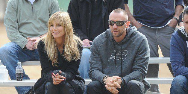 LOS ANGELES, CA - NOVEMBER 16: Heidi Klum and Martin Kristen are seen on November 16, 2013 in Los Angeles, California.  (Phot