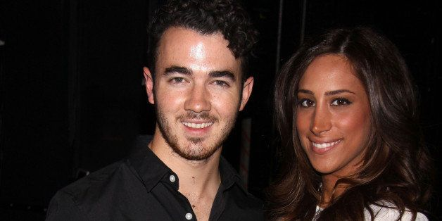NEW YORK, NY - SEPTEMBER 18:  Kevin Jonas and Danielle Jonas (celebrating her birthday) pose backstage at 'Cinderella' on Bro
