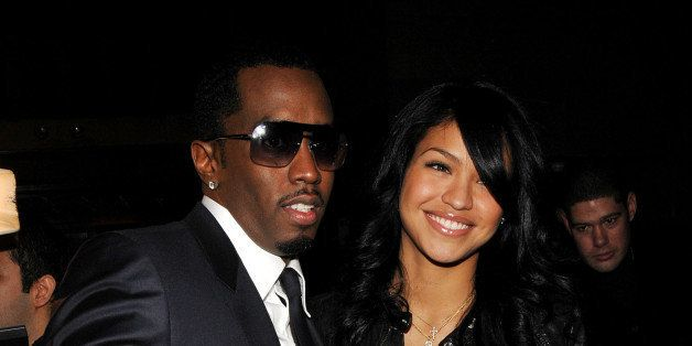 NEW YORK - FEBRUARY 08:  Rapper/designer Sean 'Diddy' Combs arrives with singer Cassie backstage at the Sean John Fall 2008 f