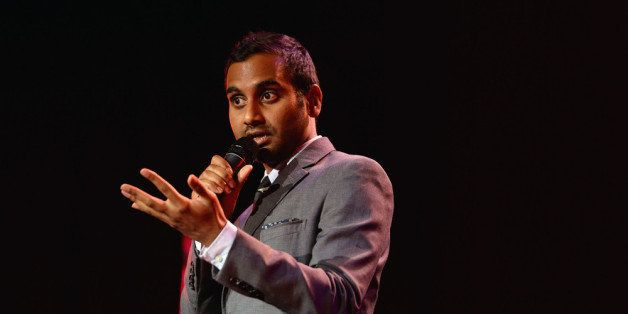 HOLLYWOOD, CA - NOVEMBER 16:  Comedian Aziz Ansari speaks onstage during Variety's 4th Annual Power of Comedy presented by Xb