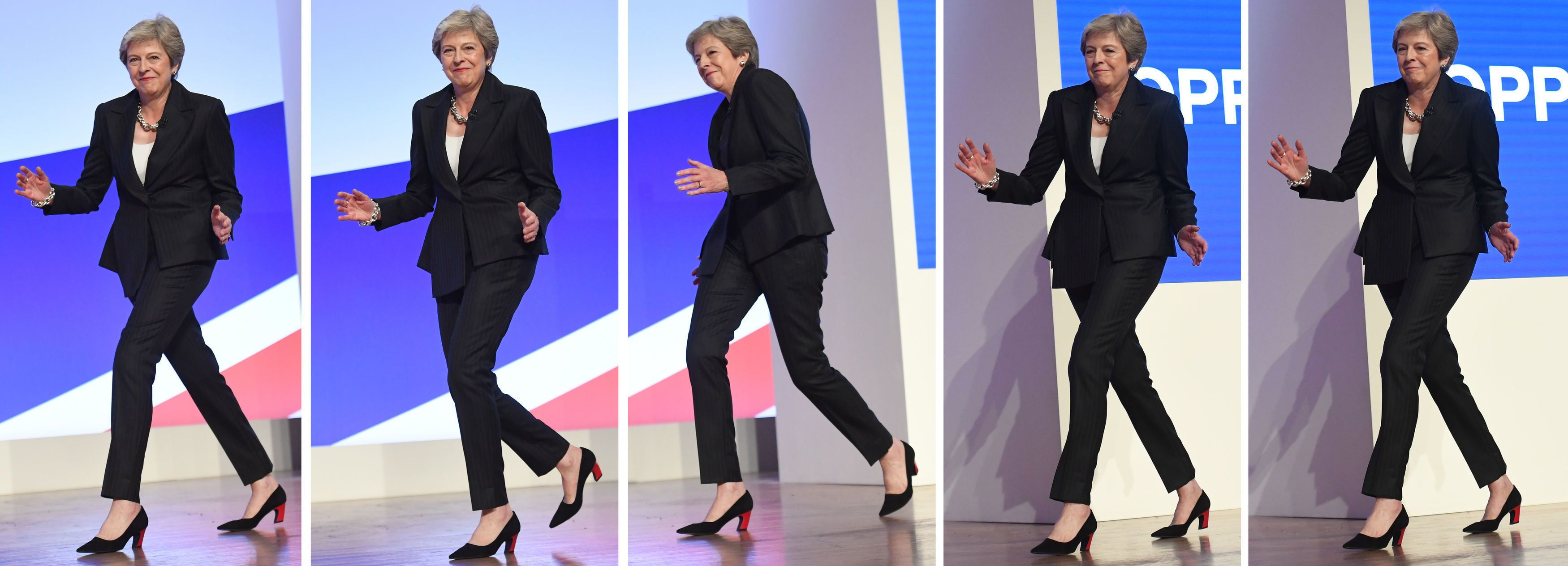 Theresa May Just Opened Her Conference Speech Dancing To ABBA. Yes