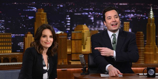 NEW YORK, NY - MARCH 03:  Tina Fey visits 'The Tonight Show with Jimmy Fallon' at Rockefeller Center on March 3, 2014 in New