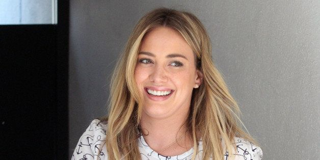 HOLLYWOOD - FEBRUARY 21: Hilary Duff sighting on February 21, 2014 in Hollywood, California.  (Photo by David Aguilera/BuzzF