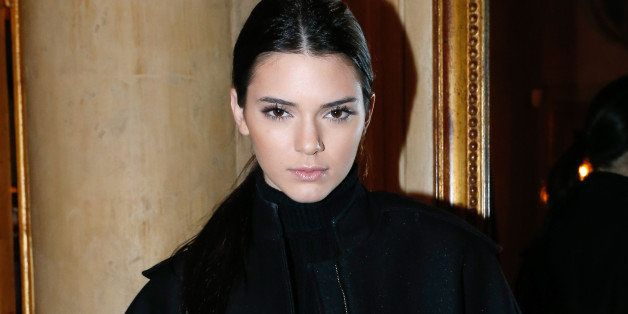 PARIS, FRANCE - MARCH 01:  Model Kendall Jenner attending the Cocktail Dinatoire of German VOGUE in honor of Mario Testino at