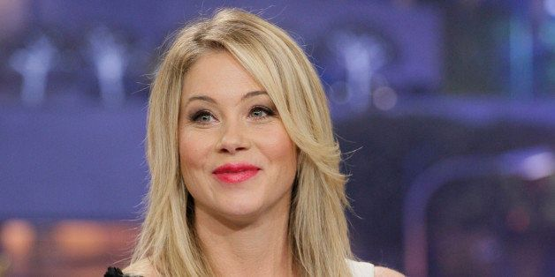 THE TONIGHT SHOW WITH JAY LENO -- Episode 4585 -- Pictured: Actress Christina Applegate during an interview on December 18, 2