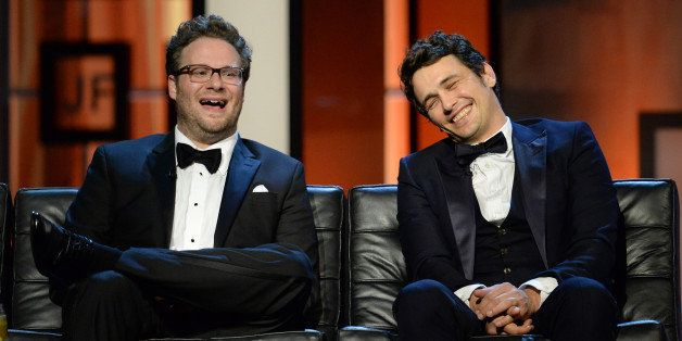 CULVER CITY, CA - AUGUST 25: Roast Master Seth Rogen and roastee James Franco onstage during The Comedy Central Roast of Jame