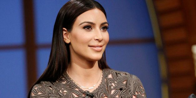 LATE NIGHT WITH SETH MEYERS -- Episode 0022 -- Pictured: Kim Kardashian on March 25, 2014 -- (Photo by: Lloyd Bishop/NBC/NBCU