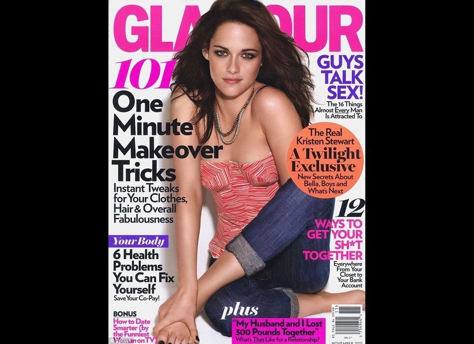 When Kristen Stewart (awkwardly) posed on the cover of Glamour's November issue, she too fell victim to the photoshop madness