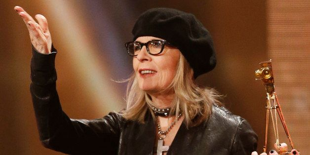 BERLIN, GERMANY - FEBRUARY 01: Diane Keaton attends the Goldene Kamera 2014 at Tempelhof Airport on February 01, 2014 in Berl