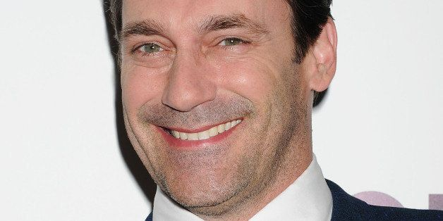 HOLLYWOOD, CA- APRIL 02: Actor Jon Hamm arrives at AMC's 'Mad Men' Season 7 premiere at ArcLight Cinemas on April 2, 2014 in