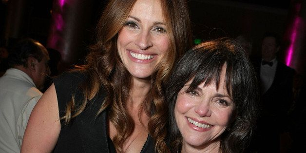 BEVERY HILLS, CA - OCTOBER 12:  Julia Roberts and Sally Field at The 22nd Annual American Cinematheque Award at the Beverly H