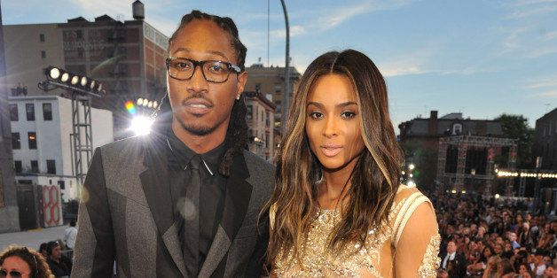 NEW YORK, NY - AUGUST 25:  Future and Ciara (Detail: Givenchy Couture dress) attend the 2013 MTV Video Music Awards at the Ba
