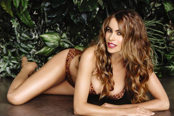 2dff6964ab Sofia Vergara Models Leopard Bikini As Part Of New Kmart Line