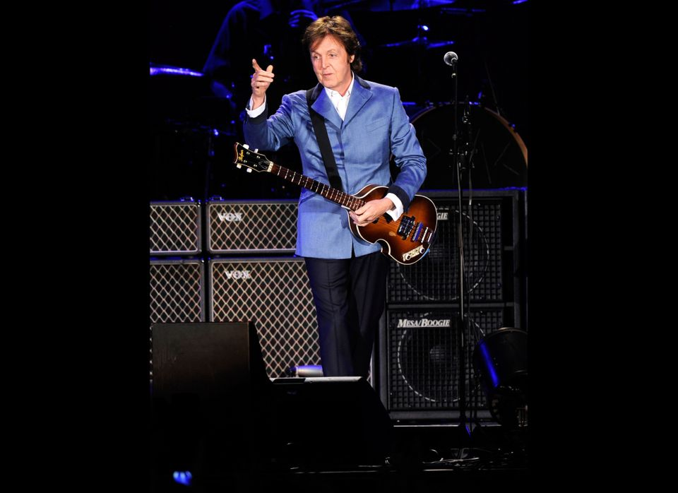 Paul McCartney performs at Yankee Stadium on July 15, 2011 in New York City.