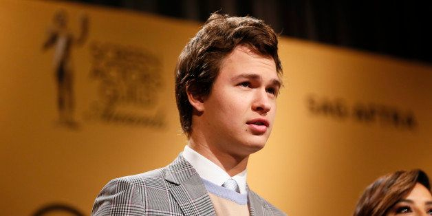 Actor Ansel Elgort announces nominations for the 21st Annual Screen Actors Guild Awards, Wednesday, Dec. 10, 2014, in West Ho