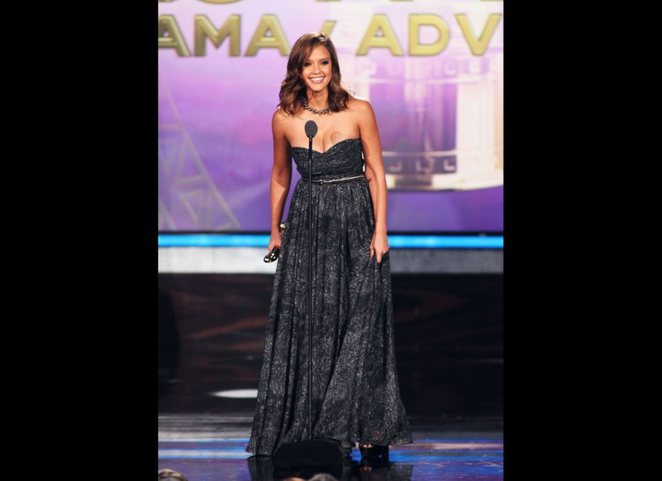 SANTA MONICA, CA - SEPTEMBER 10:  Actress Jessica Alba accepts the awards for Favorite Movie Actress - Drama/Adventure during
