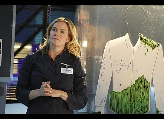 "Elisabeth Shue as Julie Finlay in her first episode of ""CSI"" airing Wed., Feb. 15 at 10 p.m. EST."