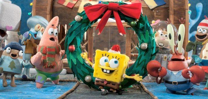 spongebob squarepants christmas special stop motion its a spongebob christmas with john goodman video