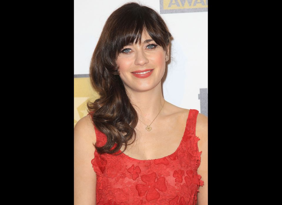"Totally ""adorkable"" in her flouncy dresses and bows, there's a fine line between Zooey Deschanel and her ""New Girl"" character"