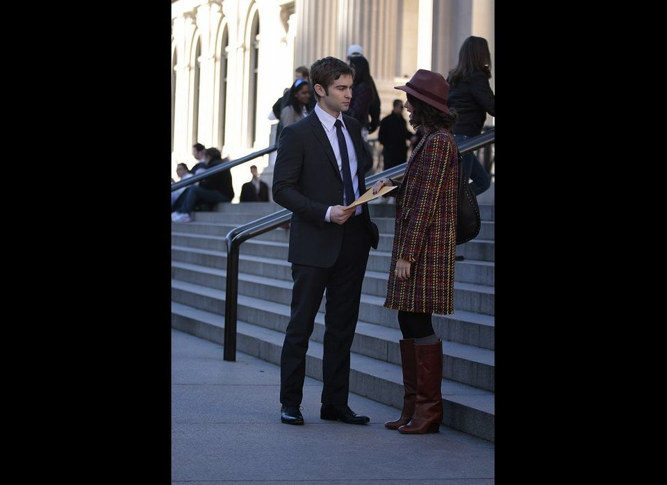 Pictured (L-R): Chace Crawford as Nate Archibald and Sofia Black-D'Elia as Sage.